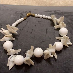 Vintage bread and shell necklace.